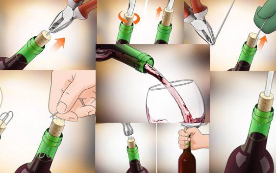 6 начини како да отворите шише вино кога немате отворач