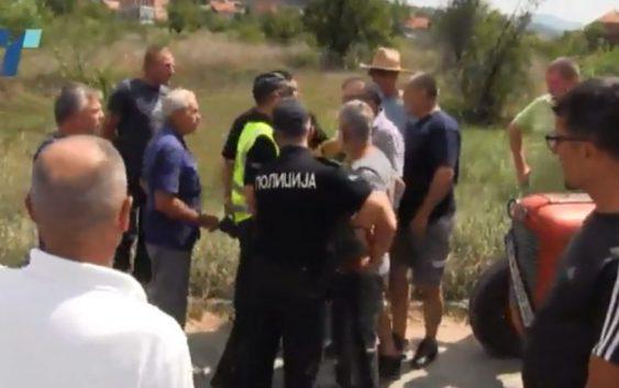 Инцидент на протестот на производителите на сливи и блокади