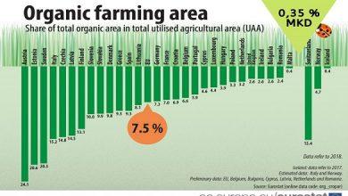 Photo of Македонското органско производство далеку под просекот на ЕУ