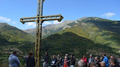 """Photo of Поставен и осветен 7 метарски крст над селото Нижеполе, донатор е """"Синпекс"""" Битола"""