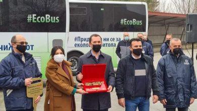 Photo of Заев и Ковачевски ги промовираa шестте нови еко-автобуси на метан наменети за превоз на работниците на РЕК Битола